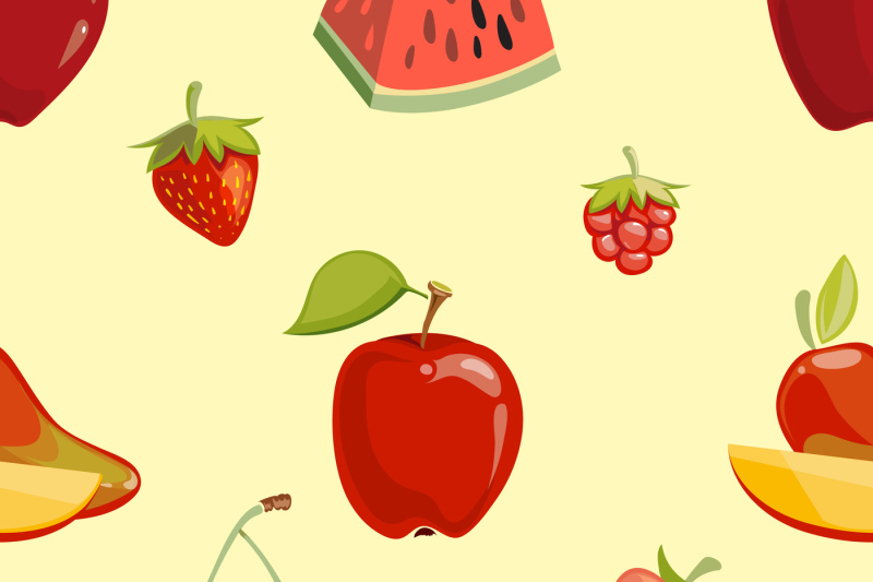 red-fruits-seamless-pattern-over-white-background