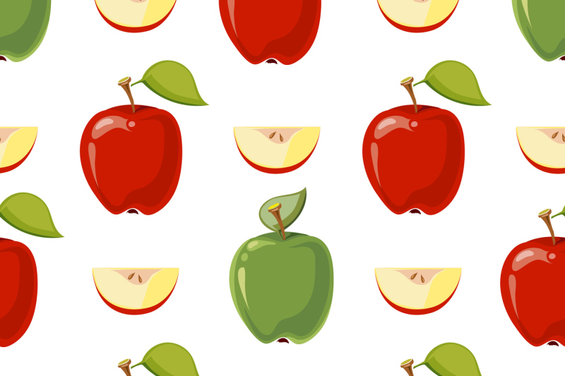 red-and-green-vector-apples-seamless-pattern