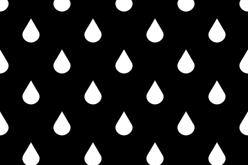 black-and-white-vector-water-drops-seamless-pattern