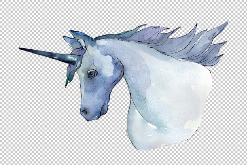 sweet-purple-unicorn-horse-png-watercolor-set