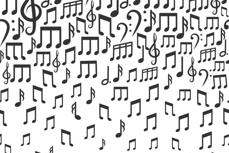 music-vector-background-with-falling-musical-notes