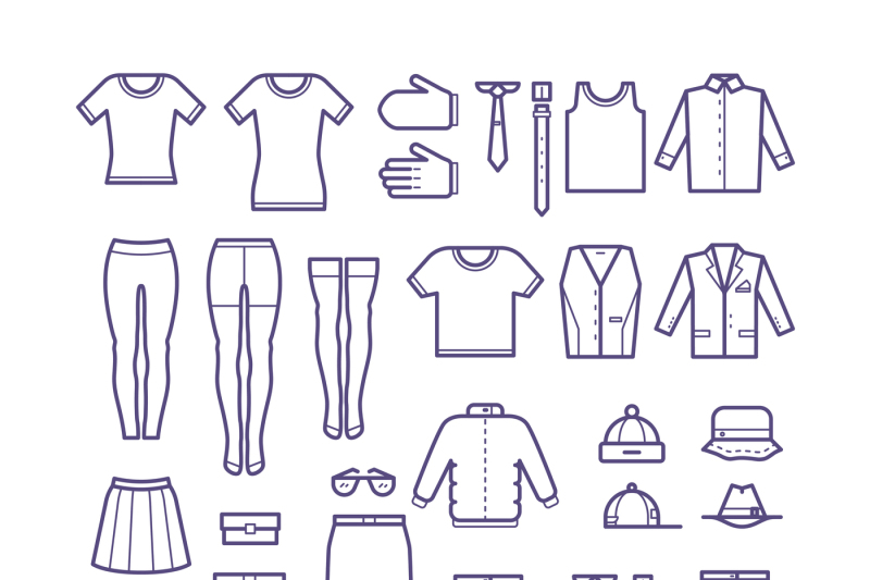 female-and-male-casual-clothes-garment-outline-vector-icons