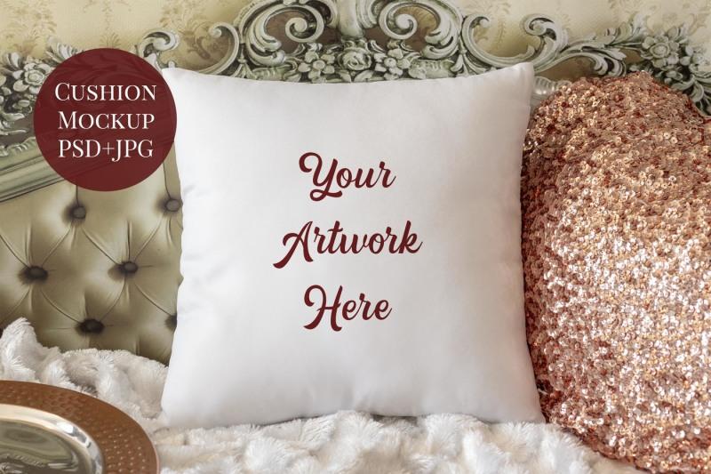 Free Cushion Cover Mockup (PSD Mockups)