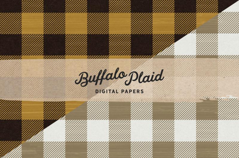 autumn-buffalo-check-plaid-digital-papers