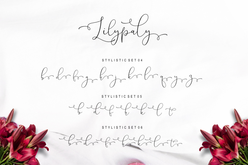 lilypaly-typeface