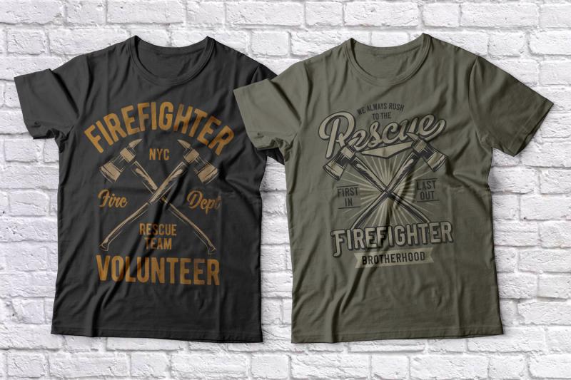 firefighter-t-shirts-set