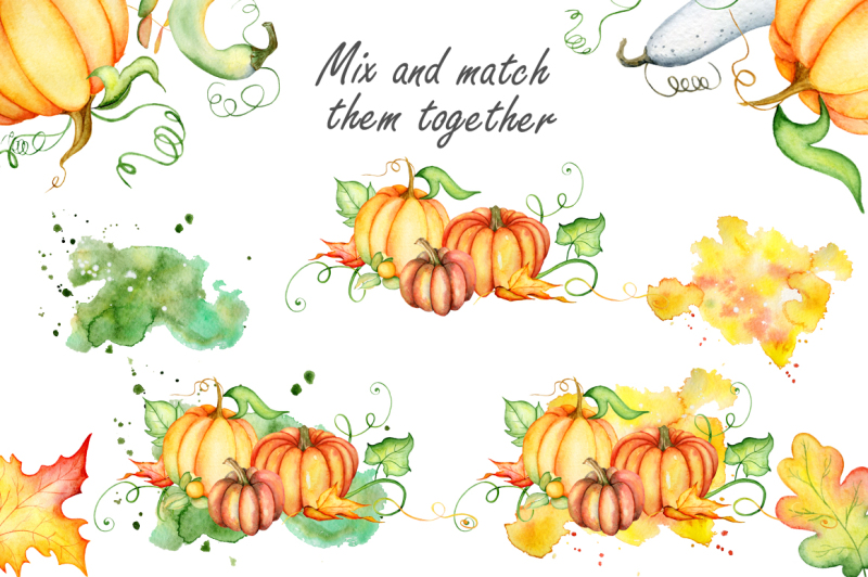 thanksgiving-pumpkins-fall-watercolor-autumn-clipart