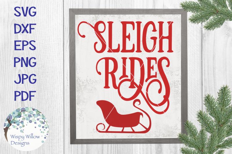 sleigh-rides-sign-svg