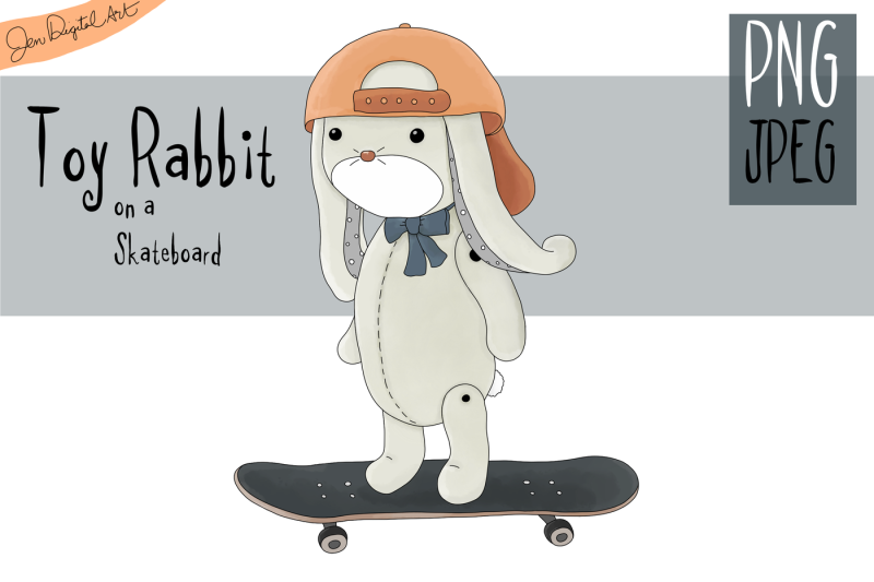 toy-rabbit-on-a-skateboard-clip-art-illustration-png-jpeg