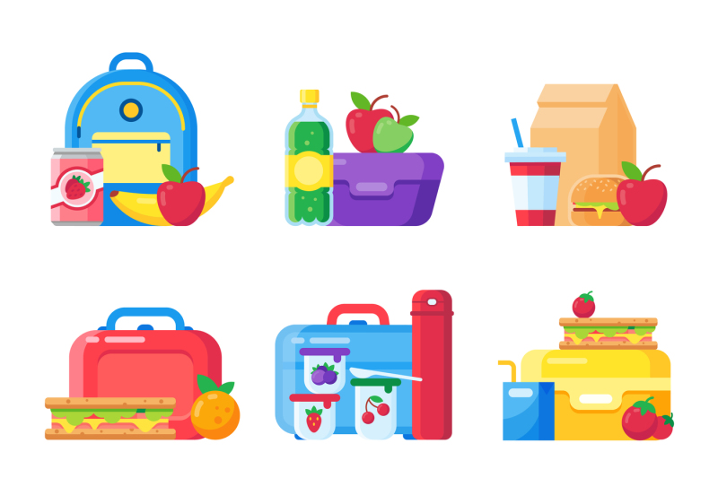 kids-school-lunch-box-schoolkid-meal-bag-for-dinner-red-apple-milk