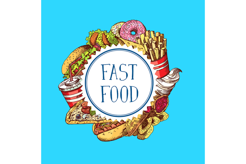 vector-hand-drawn-colored-fast-food-elements