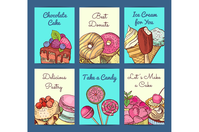 vector-hand-drawn-colored-sweets-shop-card-or-flyer