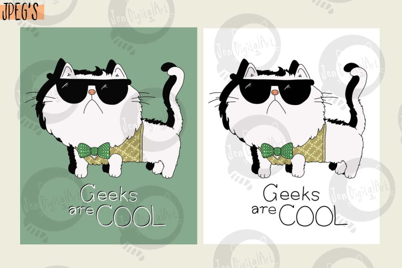 geeks-are-cool-cute-cat-t-shirt-design-png-jpeg
