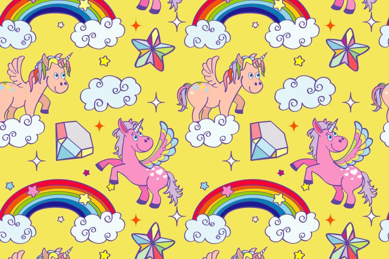 miracle-unicorn-wizard-seamless-background