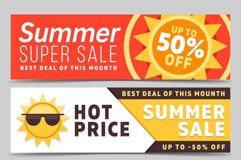super-sale-summer-vector-banners