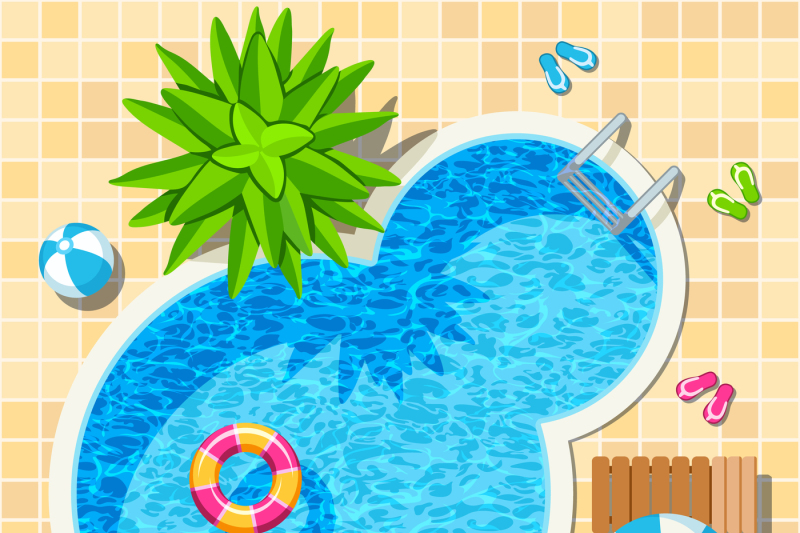top-view-relax-swimming-pool-vector