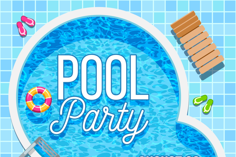 summer-party-invitation-with-swimming-pool-vector-template