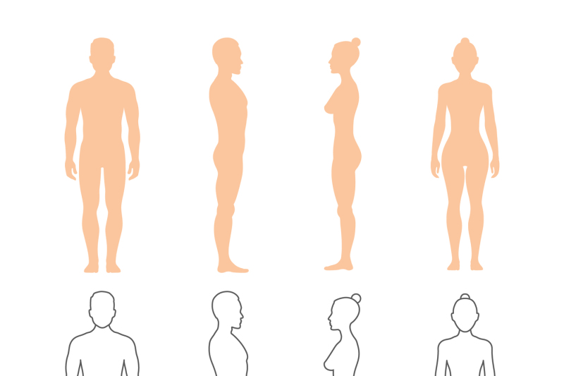 male-and-female-human-vector-silhouettes