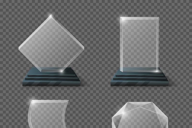 empty-glass-trophy-awards-vector-set