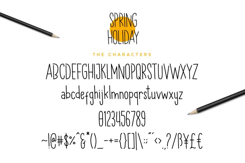 spring-holiday-3-handwritten-font