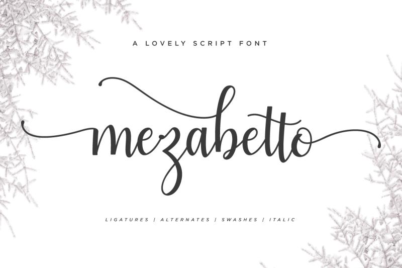 mezabetto-elegant-script-font
