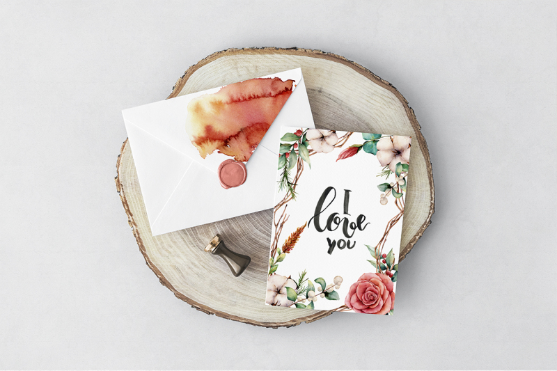 fall-in-love-watercolor-bundle