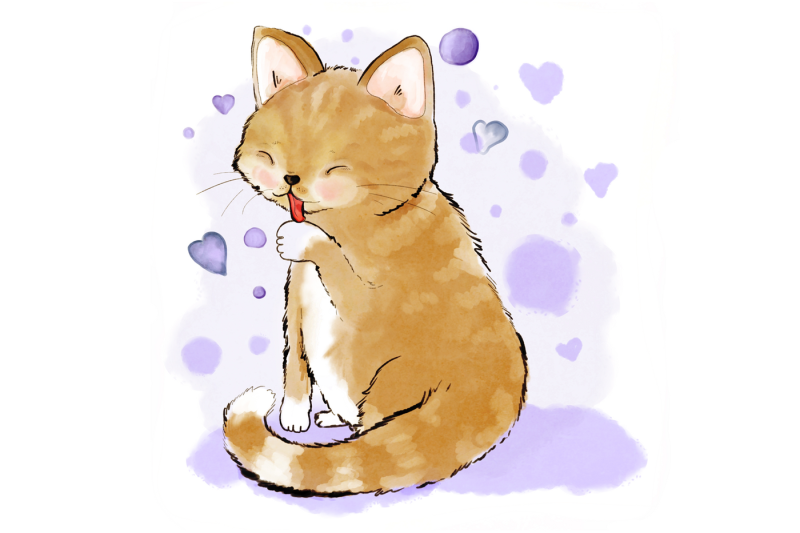 cute-cat-licking-her-paw-jpeg-illustration