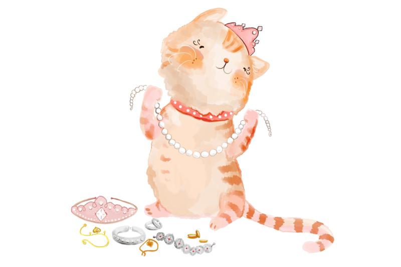 pink-princess-cats-clip-art-8-png-jpeg-illustrations