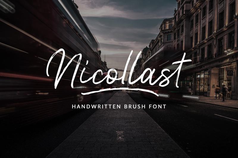 nicollast-handwritten-brush-font
