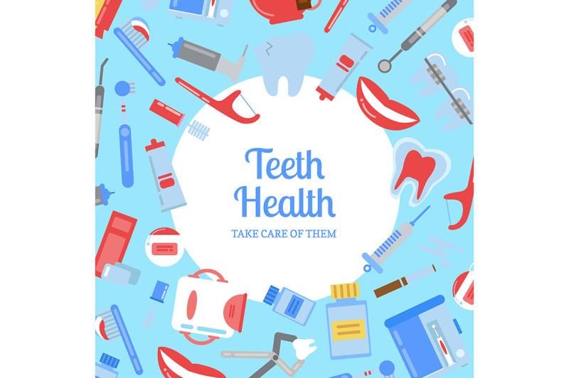 vector-flat-style-teeth-hygiene-background-illustration