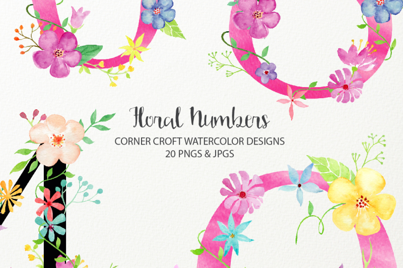 watercolor-floral-number-clipart