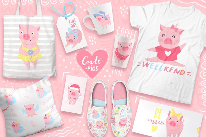 cute-vector-pigs