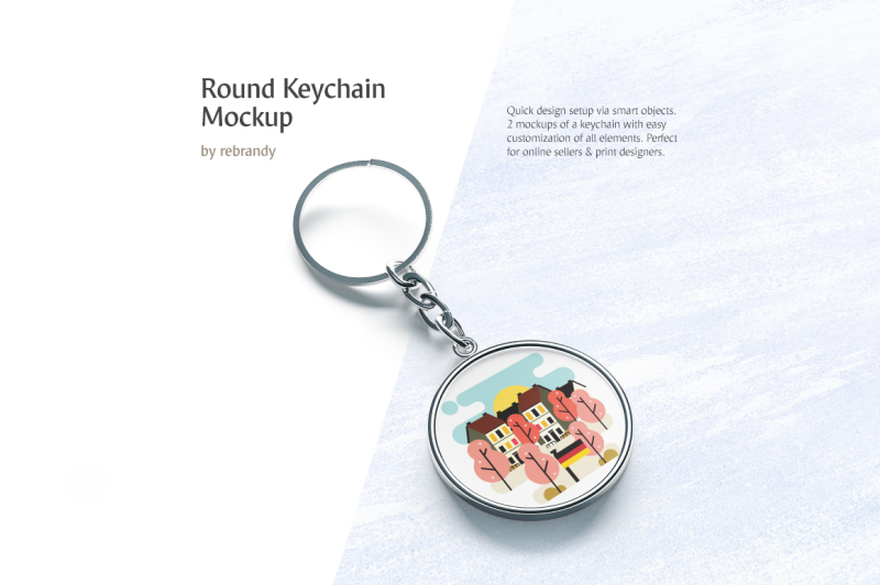 round-keychain-mockup