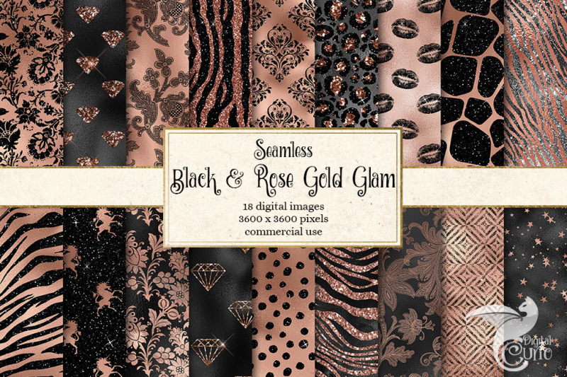 black-and-rose-gold-glam