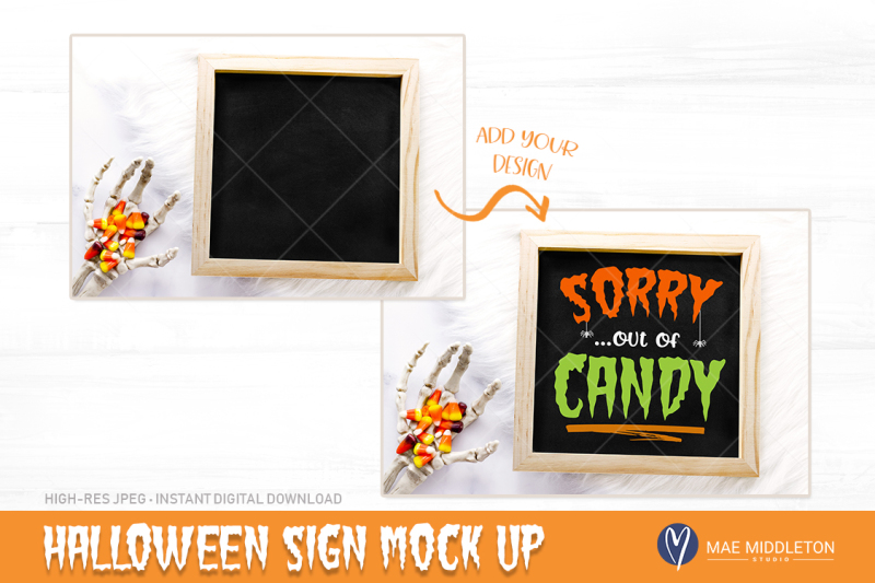 halloween-mock-up-wooden-sign-chalkboard