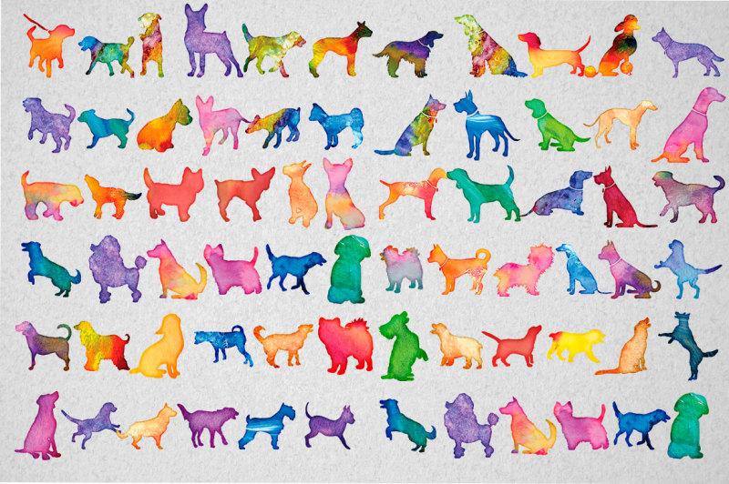 100-water-color-dog-svg-bundle