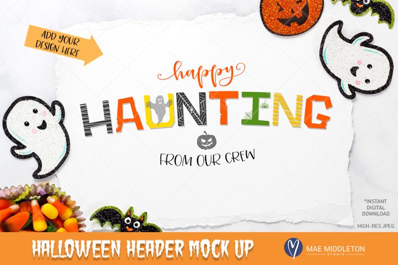 Free Halloween Header / Paper mock up -*High resolution JPEG file (PSD Mockups)