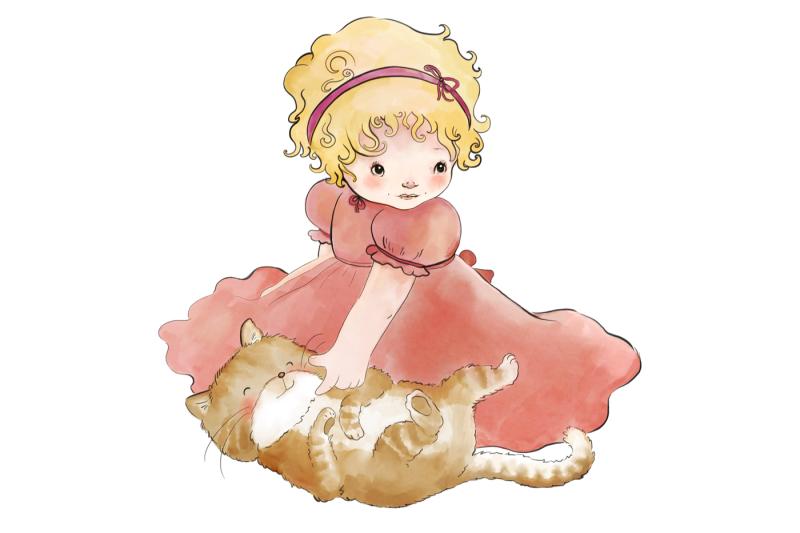 little-girl-and-cat-clip-art-illustration-png-jpeg