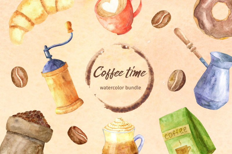 coffee-time-watercolor-collection