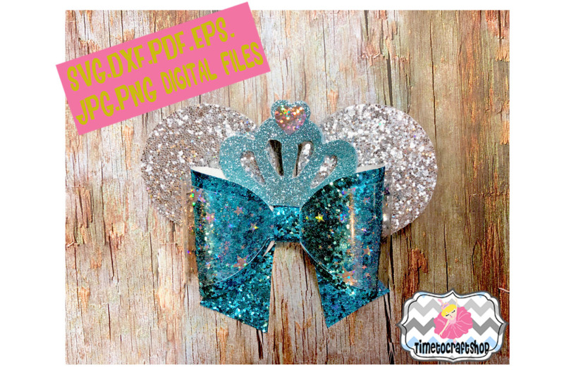 princess-mouse-ears-inspired-hair-bow-template