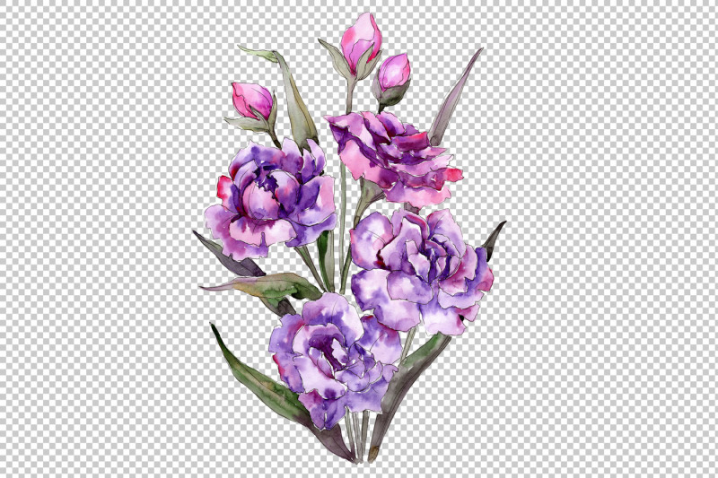bouquet-of-purple-peony-png-watercolor-set