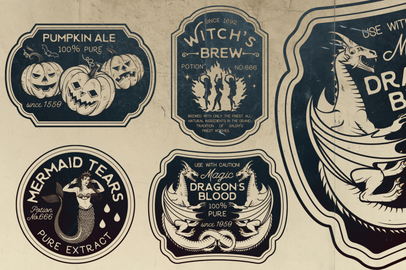 halloween-bottle-labels-and-potion-labels-vector-illustration