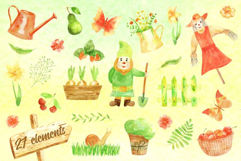 lovely-garden-watercolor-design-set