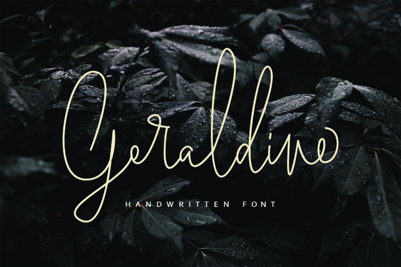 geraldine-handwritten-font