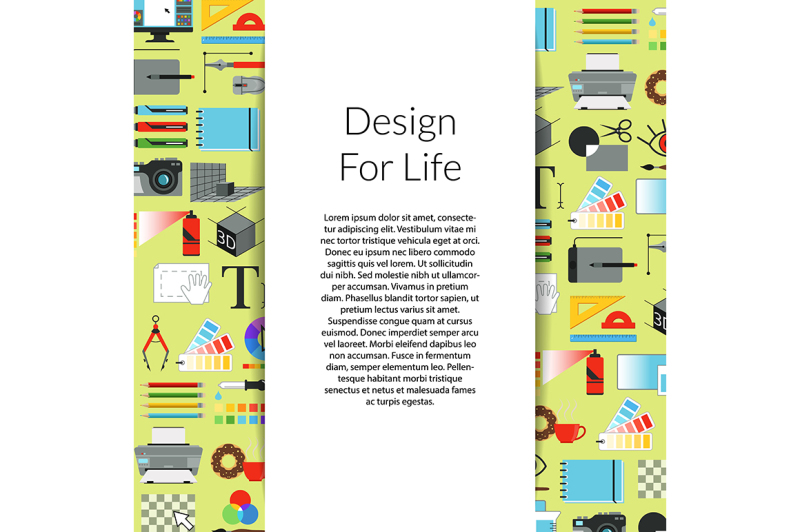 vector-digital-art-design-background-with-ribbon