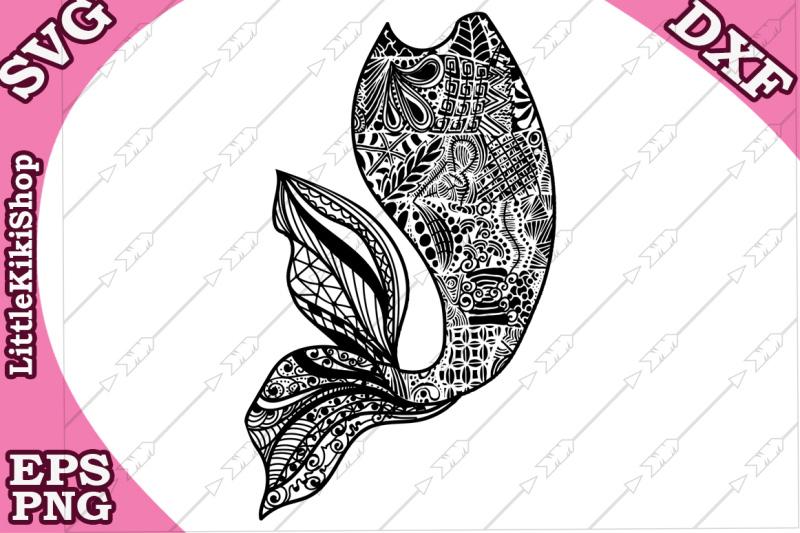 zentangle-mermaid-tail-svg-mandala-mermaid-svg-mermaid-cut-file