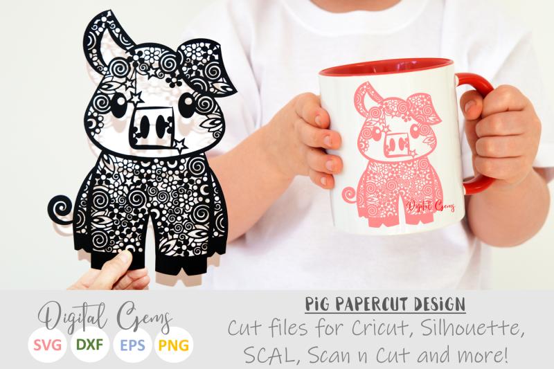 pig-svg-dxf-eps-png-files