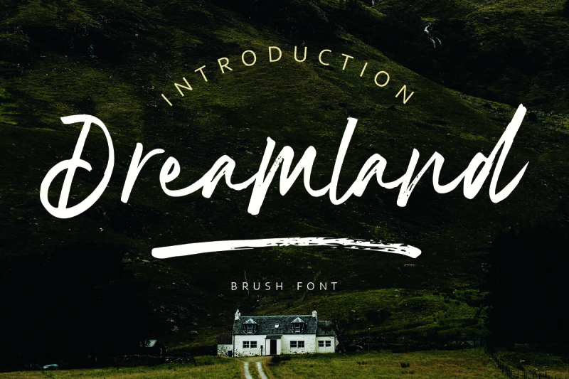 dreamland-brush-font