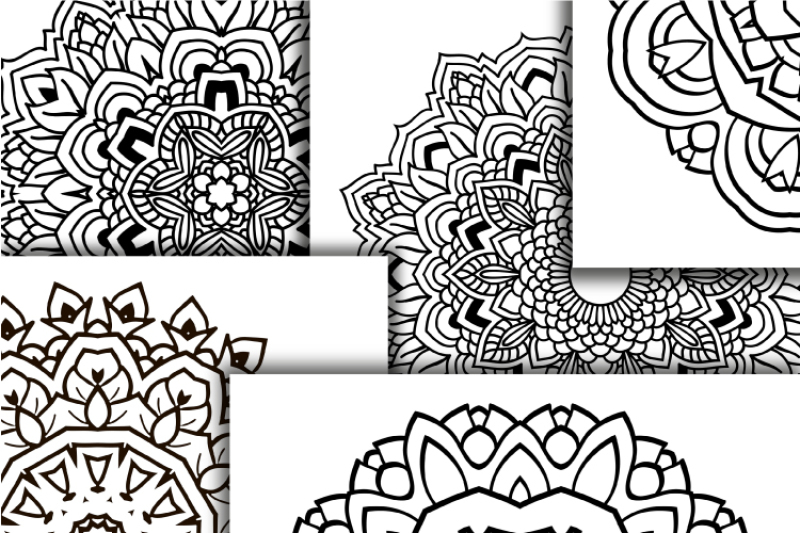 Mandala Coloring Pdf Book Boho Coloring Digital Mandala By