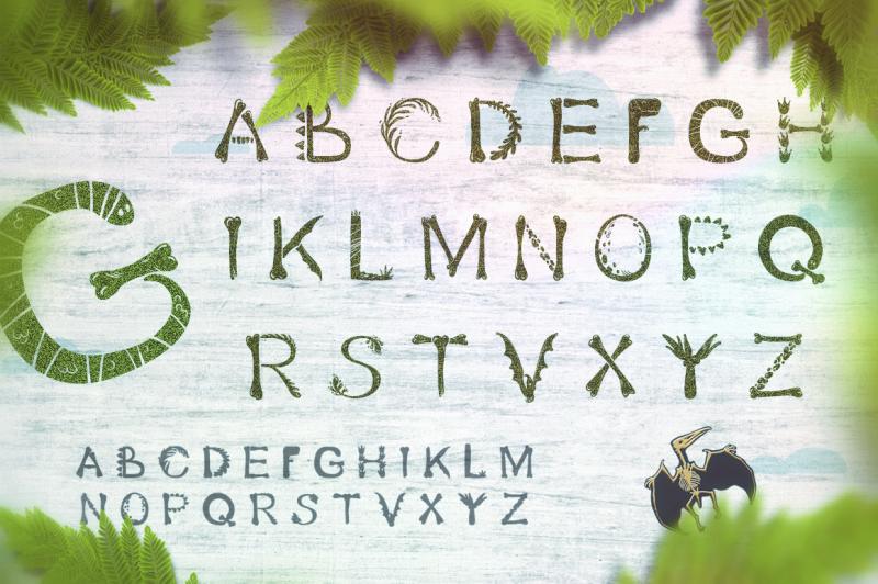 dino-font-prehistoric-style